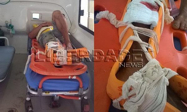 27/02/2015 -  Motociclista embriagado atropela dois soldados do Exército na BR 418: Soldado está em estado grave